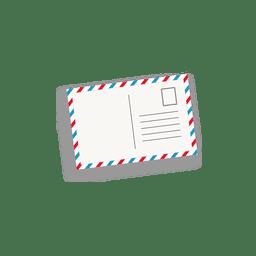 Postal del correo aéreo de la vendimia