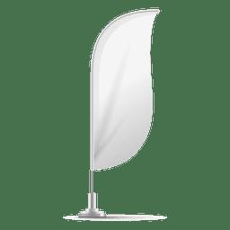 Bandera blanca convexa
