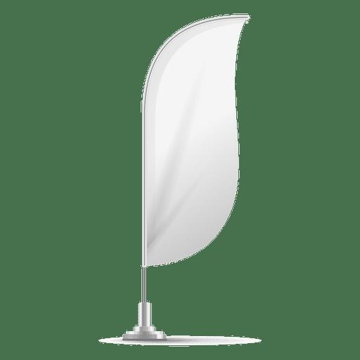 White convex flag Transparent PNG