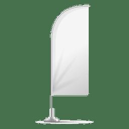 Bandera angulosa de plumas blancas