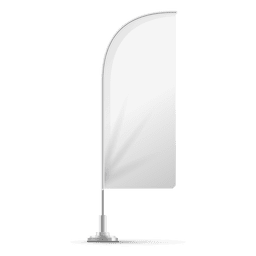 Weiße Feder abgewinkelte Flagge