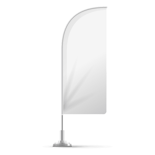 White feather angled flag