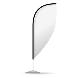 White feather convex flag