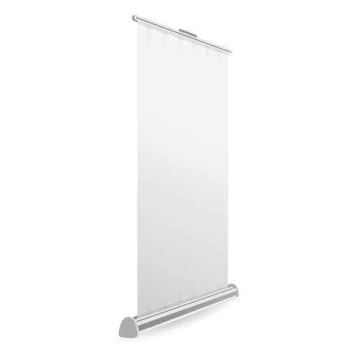 Banner de rodillo blanco