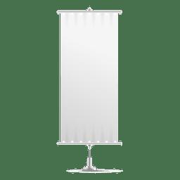 Bandeira de bandeira vertical branca