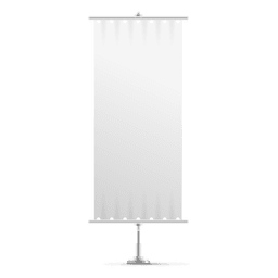 White vertical banner flag