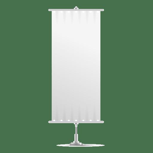 Bandera de banner vertical blanco