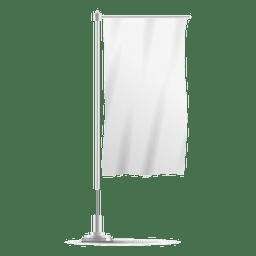 Weiße vertikale Flagge