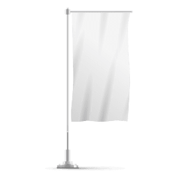 White vertical flag