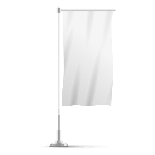 Bandera vertical blanca