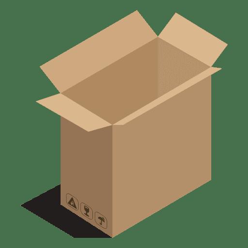 Caixa larga com sinais de pacote Transparent PNG