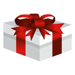 Wide wrapped gift box