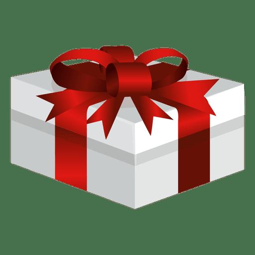 Caja de regalo envuelta ancha Transparent PNG