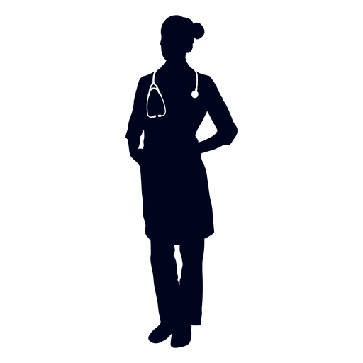 Woman doctor silhouette Transparent PNG