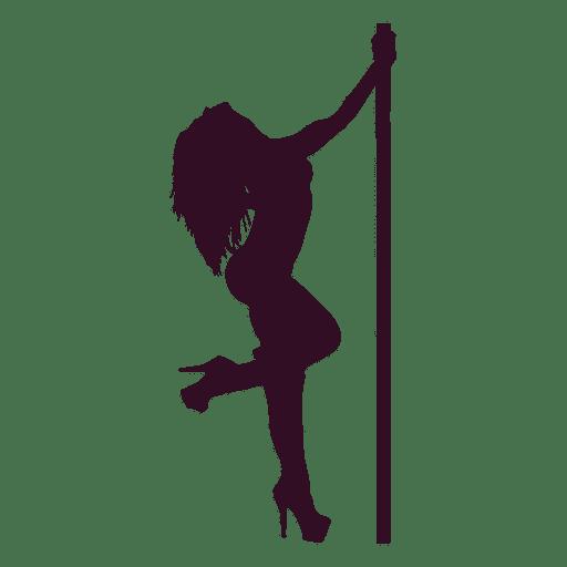 Silueta erótica de la danza de la mujer Transparent PNG