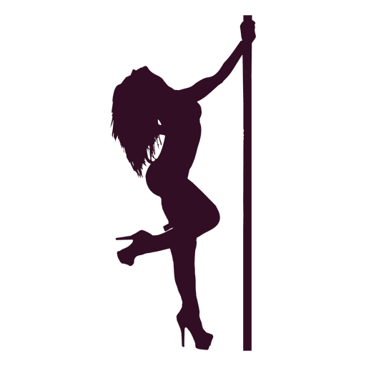 Woman erotic dance silhouette Transparent PNG