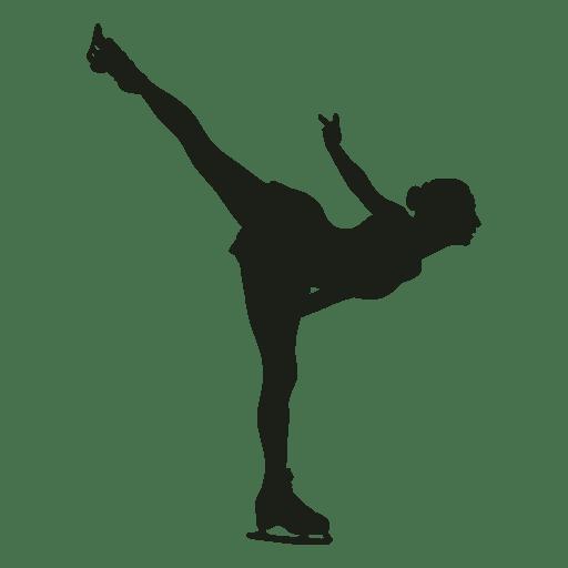 Silueta de mujer de patinaje artístico Transparent PNG