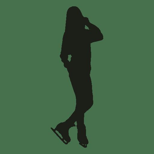 Silueta casual de patinaje sobre hielo de mujer Transparent PNG