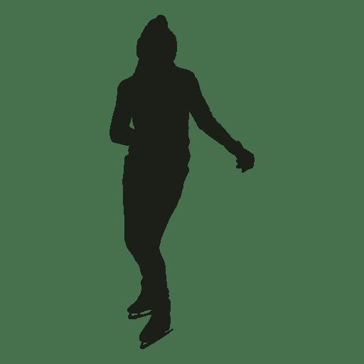 Mujer patinaje sobre hielo silueta patinaje sobre hielo Transparent PNG