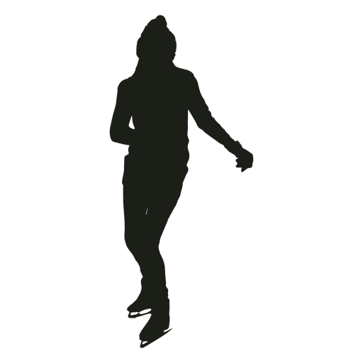 Woman ice skating silhouette ice skating Transparent PNG