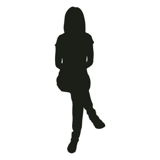 Woman Legs Crossed At Knee Silhouette Transparent Png