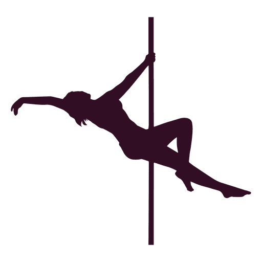 Woman performing pole dance silhouette Transparent PNG