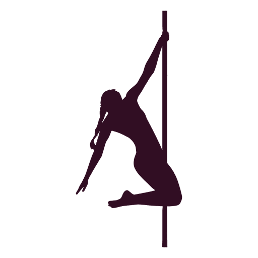 Woman pole dancer silhouette Transparent PNG