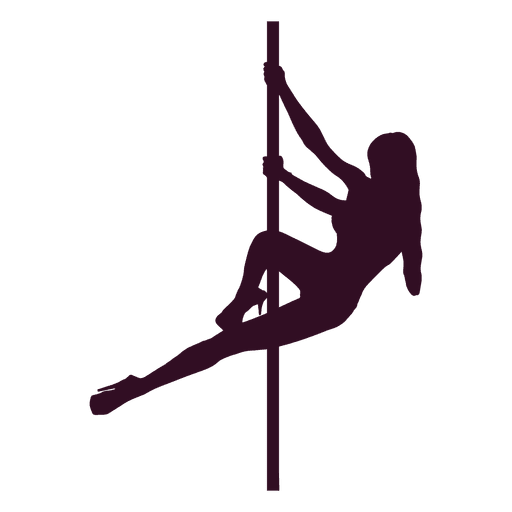 Woman pole dancing silhouette Transparent PNG
