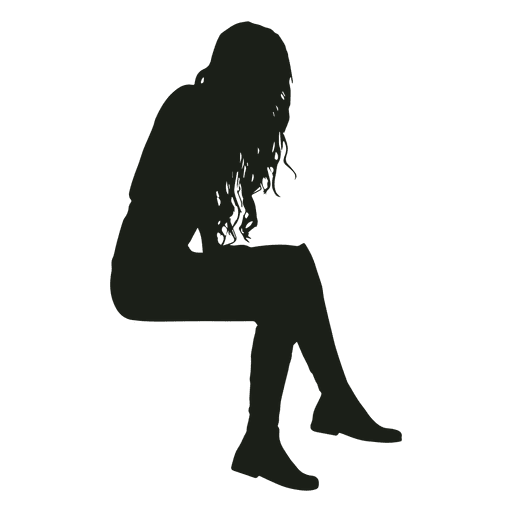 woman sitting silhouette sitting silhouette png