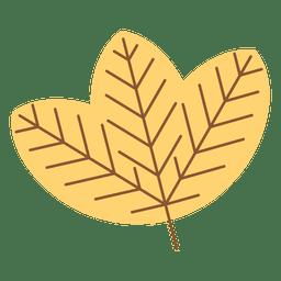 Folha de outono amarelo