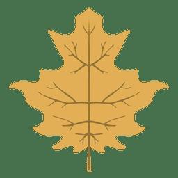 Ícone amarelo da folha do outono