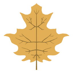 Yellow autumn leaf icon