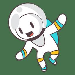 Ilustração de astronauta