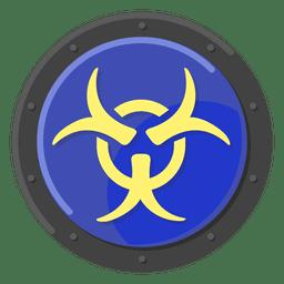 Advertencia de peligro biológico azul