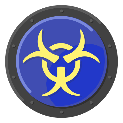 Biohazard Warning Blue Transparent Png Svg Vector
