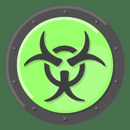 Advertencia de peligro biológico verde
