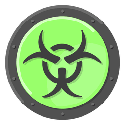Biohazard warning green