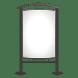 Placa de publicidade exterior em branco