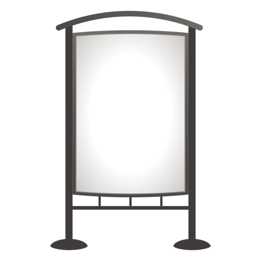 Blank outdoor advertising board Transparent PNG
