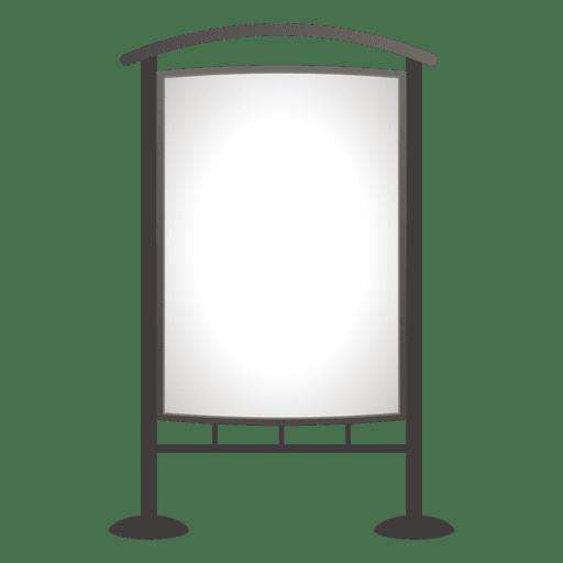 Tablero de publicidad exterior en blanco