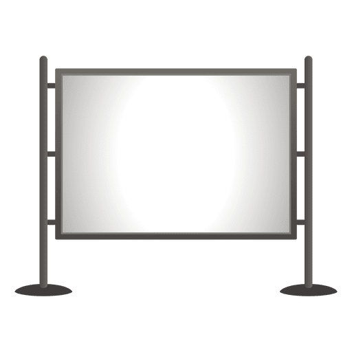 Blank outdoor bulletin board Transparent PNG