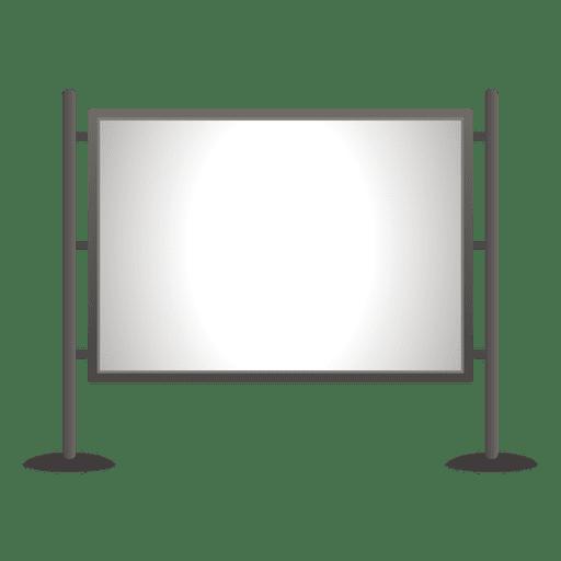 Tablero de anuncios al aire libre en blanco