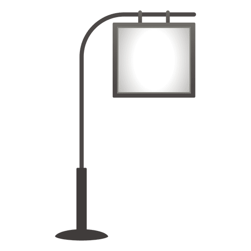 Blank pole hanging board Transparent PNG