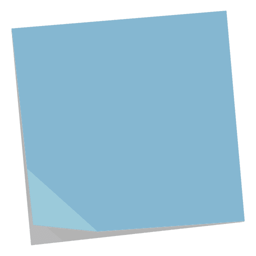 Blue post it note Transparent PNG