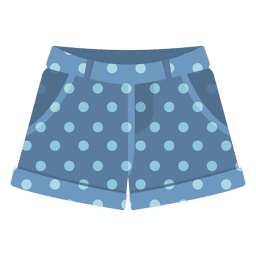 Blue shorts dots