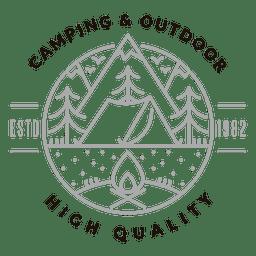 Camping Logo im Freien