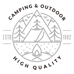 Camping outdoor logo