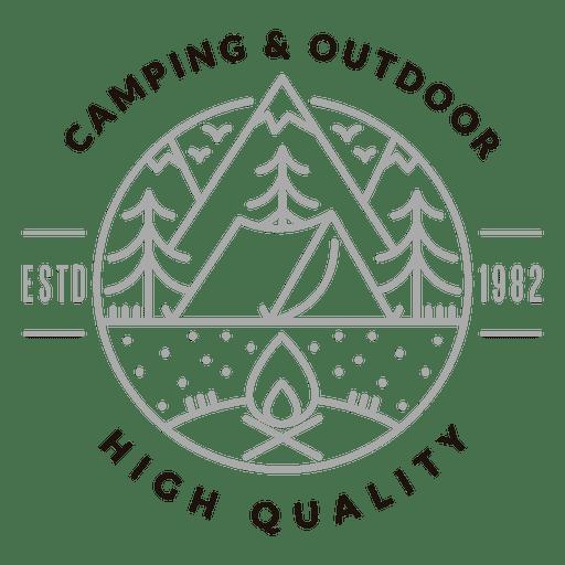 Camping outdoor logo Transparent PNG