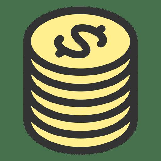 Pilha de moedas Transparent PNG
