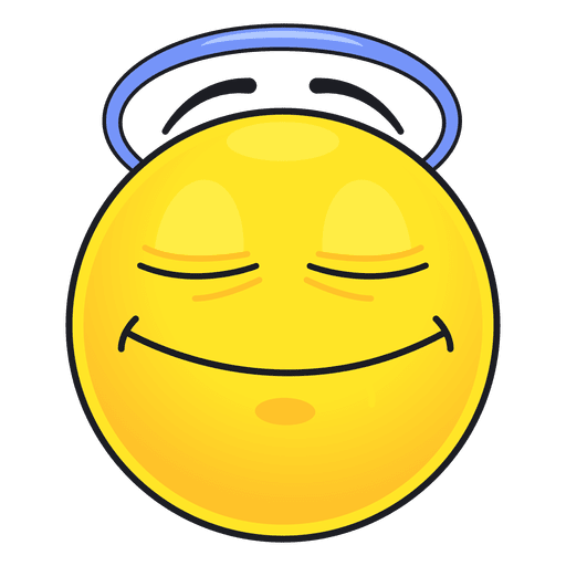 Cute angel emoticon Transparent PNG